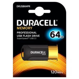 USB 3.1 Flash Disk Duracell Professional 64GB 120MB/s Black-Gold