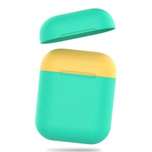 Silicon Case AhaStyle PT38 Apple AirPods Tone Mint Green-Yellow