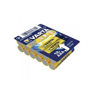 Battery Alkaline Varta Longlife AAA LR03 (12 pcs)