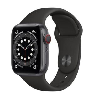 Apple Watch Series 6 Aluminum 40mm Space Grey with Sport Band Black