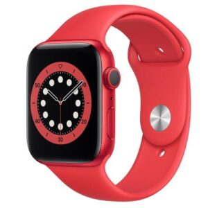 Apple Watch Series 6 GPS 44mm Product Red Aluminum Case with Sport Band Product Red