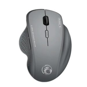 Wireless Mouse iMICE G6 1600dpi 2.4GHz with 6 Buttons and High Precision Optical Engine Silver