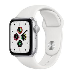 Apple Watch SE GPS 40mm Silver Aluminum Case With Sport Band White