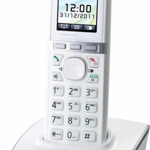 Refurbished (Exhibition) Dect/Gap Panasonic KX-TG8051GRW White with Hands Free Connector
