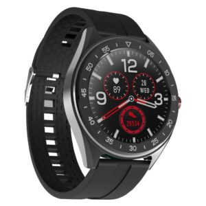"""Smartwatch Lenovo R1 IP68 280mAh V.4.0 All Touch 1.3""""Black Silicon Band with Extra strap and bezels"""