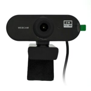 USB Webcam Mobilis PC01-2 Full HD 1080P 2560X1440 with Microphone and Focus Range 20mm. Black