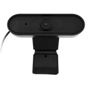 USB Webcam Mobilis P2Α HD 720P 1280X720 with Microphone and Tripod Screw Hole. Black