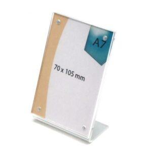 Desktop Plexiglass Stand A7 7x10.5cm
