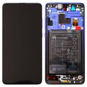 LCD with Middle Plate and Battery Huawei Mate 20 Twilight (Original)