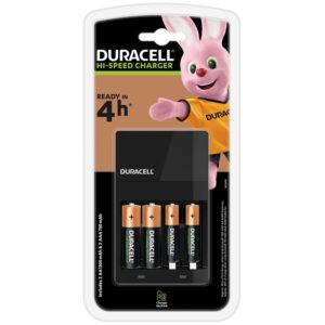 Battery Charger Duracell Hi-Speed with AA/AAA with 2 ΑΑ 1300mAh and 2 ΑΑΑ 750mAh Included