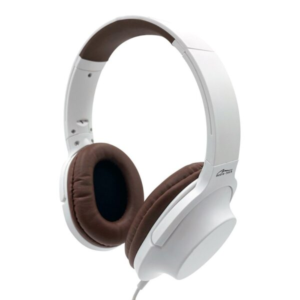 Headphone Stereo Media-Tech MT3604 Delhpini 3.5mm White with Microphone and Operations Control Button
