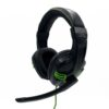 Stereo Headphone Media-Tech COBRA PRO OUTBREAK MT3602 Dual 3.5mm Connector for Gamers with Microphone and 2 Meters Braided Cable. Black-Green