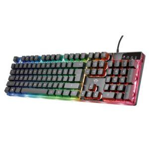 Wired Keyboard Trust GXT 835 Azor Illuminated Gaming Black
