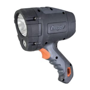 Torch Energizer HardCase Professional Rechargable Hybrid 550 Lumens with Batteries 6 x AA Black