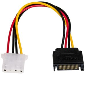 Adapter with Power Cable Akyga AK-CA-11 P4 4 pin Female / P8 8 pin Male P4+4 15cm