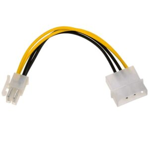 Adapter with Power Cable Akyga AK-CA-12 Molex Male / P4 Male 15cm