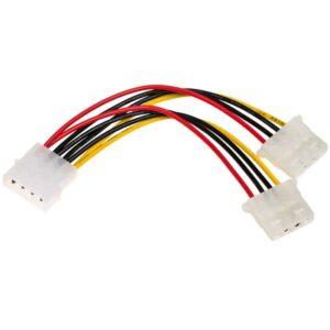 Adapter with Power Cable Akyga AK-CA-15 Molex Male / 2x Molex Female 2x 15cm