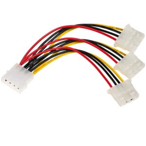 Adapter with Power Cable Akyga AK-CA-40 Molex Male / 3 pin 5V Male 15cm