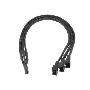 Adapter with Power Cable Akyga AK-CA-65 4 pin Female / 2x 4 pin Male / 1x 3 pin Male 3x 15cm