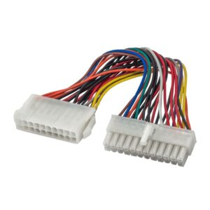 Adapter with Power Cable Akyga AK-CA-66 20 pin Female / P1 20+4 pin Male 15cm