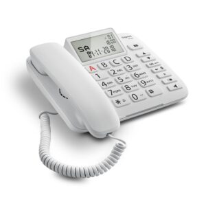 Corted Telephone Gigaset DL380 White Large Adjustable Display S30350-S217-K102