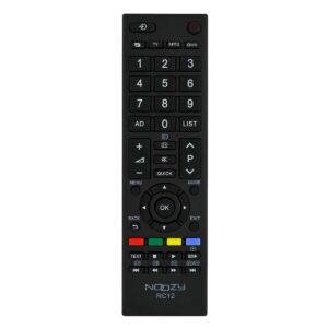 Remote Control Noozy RC12 for Toshiba TV Ready to Use Without Set Up