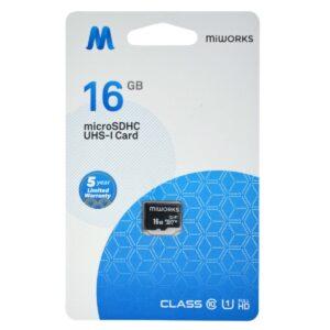 Flash Memory Card MiWorks MicroSDHC 16GB Class 10 UHS-I U1