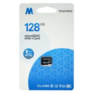 Flash Memory Card MiWorks MicroSDXC 128GB Class 10 UHS-I U3