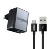 Travel Charger Ancus Energizer Series 1A with Data Cable Micro USB 1m Black
