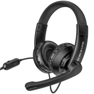 Stereo Gaming Headphone Borofone BO102 Amusement with 3.5mm Connector and Microphone with Activation Switch Black