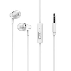 Hands Free Borofone BM21 Graceful Stereo 3.5 mm White with Micrphone and Operation Control Button