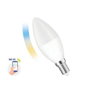 Smart LED Lamp Spectrum Ε14 Candle 5W 410 Lumens WiFi 2700-6900Κ 230V 50Hz A++