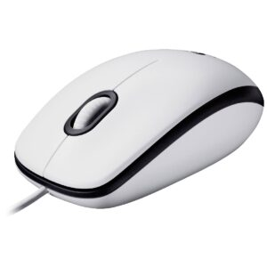 Wired Mouse Logitech USB Mouse M100  with 3 Buttons 910-005004 White