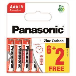 Battery Zinc Carbon Panasonic size AAA 1.5V Pcs