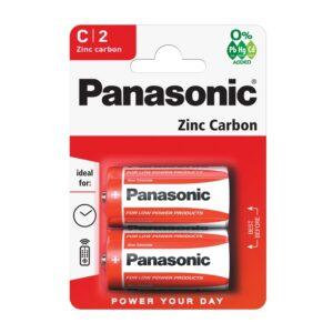 Battery Zinc Carbon Panasonic LR14 size C 1.5 V Τεμ. 2