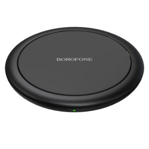 Wireless Charger Borofone BQ6 Boon 15W for Qi Devices and TWS Headphones Black