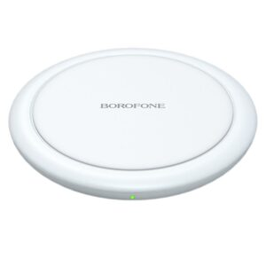 Wireless Charger Borofone BQ6 Boon 15W for Qi Devices and TWS Headphones White
