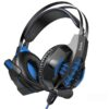 Stereo Gaming Headphone W102 Cool Tour 3.5mm and USB connection with Microphone and LED Light Black-Blue
