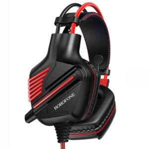 Stereo Gaming Headphone Borofone BO101 Racing with 3.5mm Connector and LED Light Black-Red