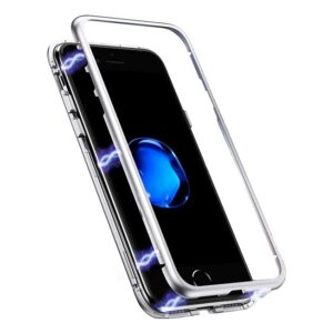 Case Ancus 360 Full Cover Magnetic Metal for Apple iPhone 12 / iPhone 12 Pro Silver