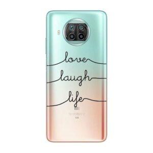 TPU inos Xiaomi Mi 10T Lite 5G Art Theme Love-Laugh-Life