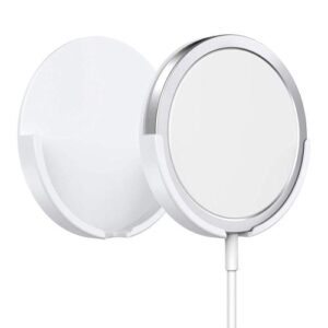 Holder Ahastyle PT136 for Apple iPhone 13 Series MagSafe Charger Plastic White (2 pcs)